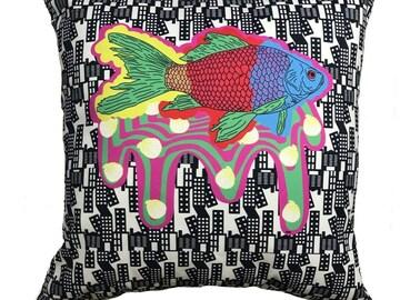 : Katie Lee Dowson's Urban Fish Cushion Cover