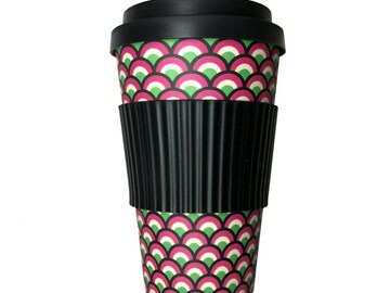 : DRAGONS BACK PRINT 'SCALES' BAMBOO TRAVEL CUP