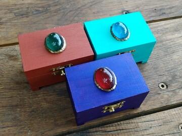 Vente au détail: Petite boite déco pierre précieuse (9 x 6 x 5.5cm)
