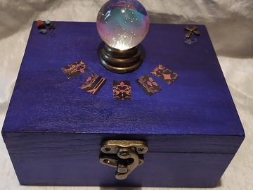 Vente au détail: Boite à bijoux thème voyance (10.6 x 14.4 x 7cm)