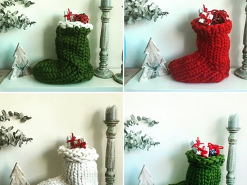 : Giant Santa Christmas Socks