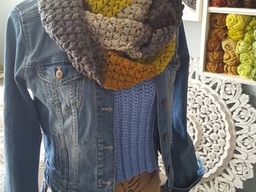 Selling with online payment: Infinity Scarf Crochet Cowl