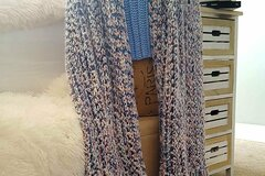 Selling with online payment: Fringed Crochet Shawl Wrap Scarf