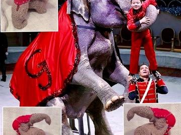 Vente au détail: Peluche éléphant de manège