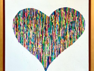 Sell Artworks: Bright Love - Colorful - Gold Frame