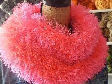 Selling with online payment:  Bubblegum Pink Fun Fur Cowl Scarf