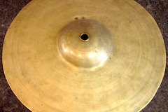 """Selling with online payment: 1910-30s Hand Hammered 11 3/4"""" big bell cymbal  750 grams"""