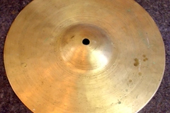 """Selling with online payment: 1910-30s Hand Hammered 9 1/2"""" tall bell cymbal  530 grams"""