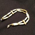 Selling: Brass Bead & Bone Bracelet