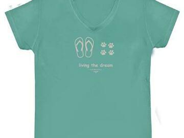 Selling: Living The Dream - V-Neck T-Shirt