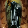 Tattoo design: Shrouded Ghost Halloween Design