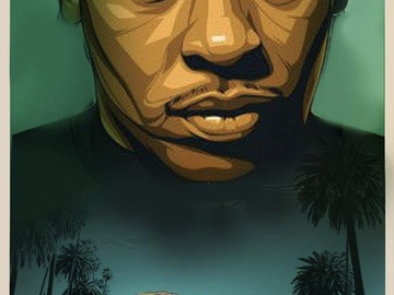 Tattoo design: Dr. Dre Painted Style.