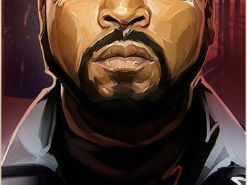 Tattoo design: Ice Cube Painted Style