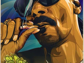 Tattoo design: Snoop Dogg 2 - Painted Style