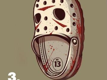 Tattoo design: Friday 13th croc