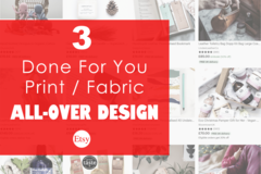 Offering online services: 3 Custom All-Over Pattern Designs