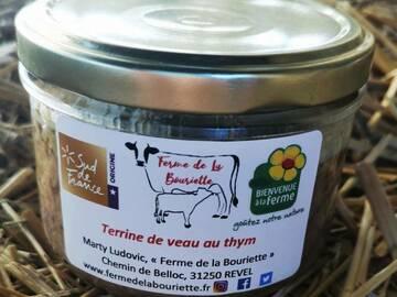 Vente avec paiement en direct: Pâté - Terrine de veau au thym - Conserve 180g