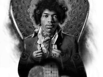 Tattoo design: Jimi Hendrix