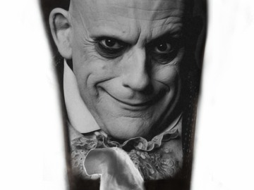 Tattoo design: Fester Addams