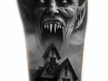 Tattoo design: Vampire