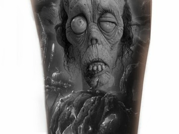 Tattoo design: Zombie