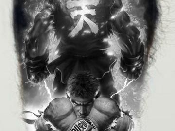 Tattoo design: Street Fighter