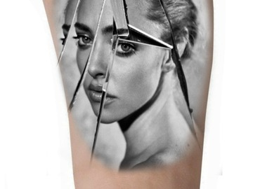Tattoo design: Broken Mirror