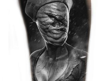 Tattoo design: Silent Hill