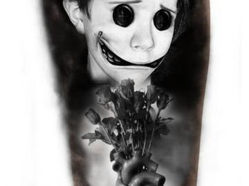 Tattoo design: Heartbroken puppet
