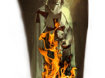 Tattoo design: Burning Templar Friday 13th