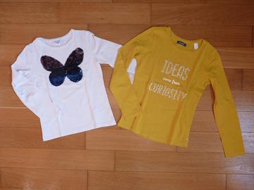 Vente: Lot de 2 T-shirts Okaïdi fille 8 ans TBE