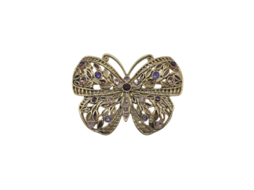 Liquidation/Wholesale Lot: 12 Butterfly Brooch w/ Swarovski Crystals