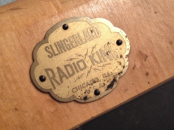 Show Off Your Drums! (no sales): Slingerland Radio King practice pad, late 1940s