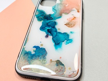 : Peachy waves - Original alcohol inks Iphone 11 case