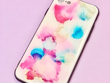 : The Unicorn - Original alcohol inks IPhone 8 case