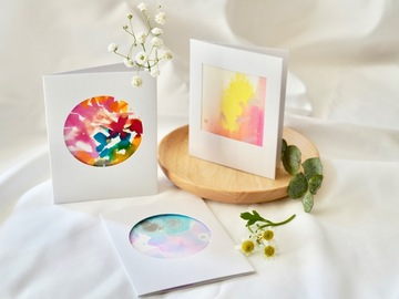 : Joy - Original art folded greeting cards