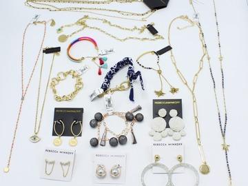 Liquidation/Wholesale Lot: New 16 Piece Rebecca Minkoff Jewelry Lot $808 Retail Value