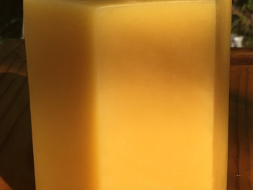 Selling with online payment: Beeswax Hexgon Pillar Candle
