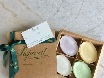 : HANDCRAFTED 4 SCENTED BAR SOAPS (free from harmful chemicals)