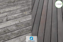.: Reinigen houten terras | door JVB Outdoor Cleaning