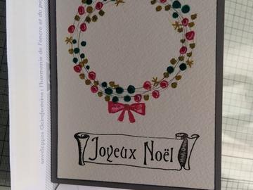 """Vente au détail: Carte """"Joyeux Noël"""""""