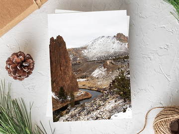 Selling with online payment: Smith Rock Greeting Card