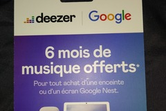 Vente: Carte Deezer PREMIUM 6 mois (60€)