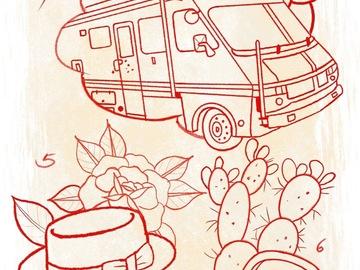 Tattoo design: 4.  Breaking Bad  - Camper Van