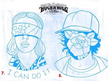 Tattoo design: 8 - Stranger Things - Dustin (rose portrait)