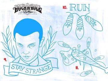 Tattoo design: 9 - Stranger Things - 11 - Stay Strange
