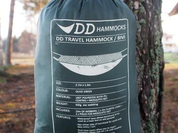 Vuokrataan (päivä): Riippukeinu/hämökki DD Hammock Travel (1-3 kpl)
