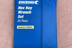 For Rent: Kincrome 25 Piece Metric And Imperial Hex Key Wrench Set