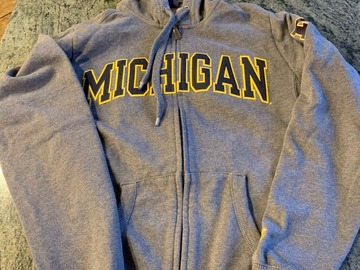 Selling A Singular Item: Grey Michigan Zip-up