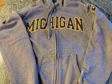 Selling A Singular Item: Grey Michigan Zip-up